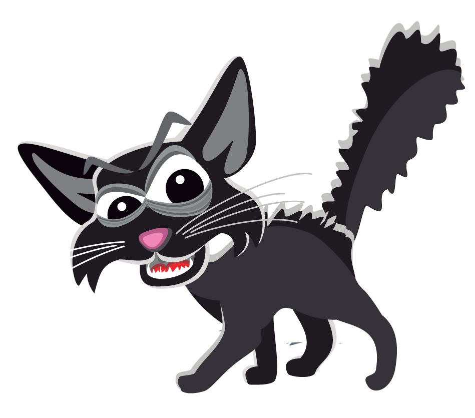 Free black cat page. Kittens clipart sad
