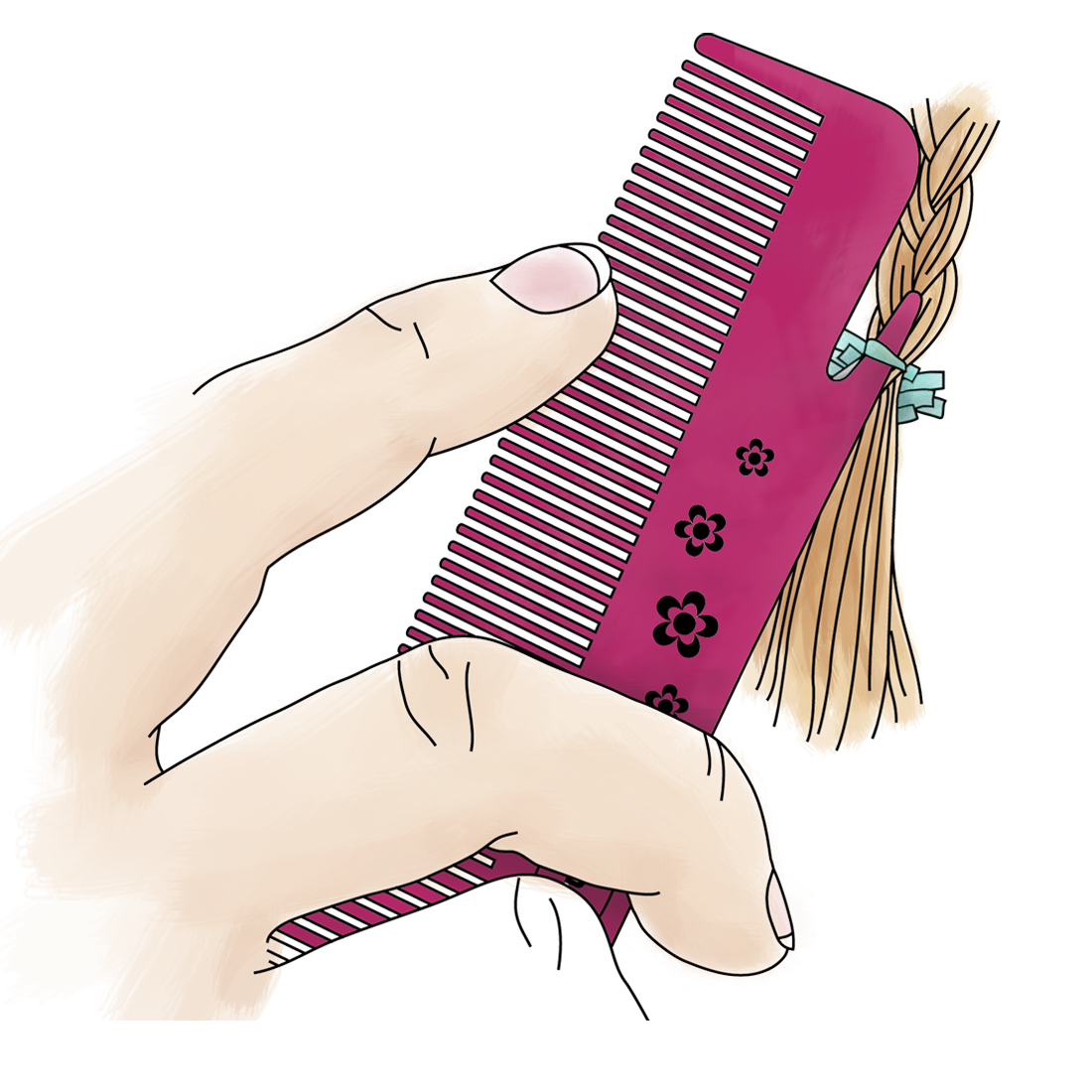 Shop kids gimmeboutique childsafe. Comb clipart child brushing hair