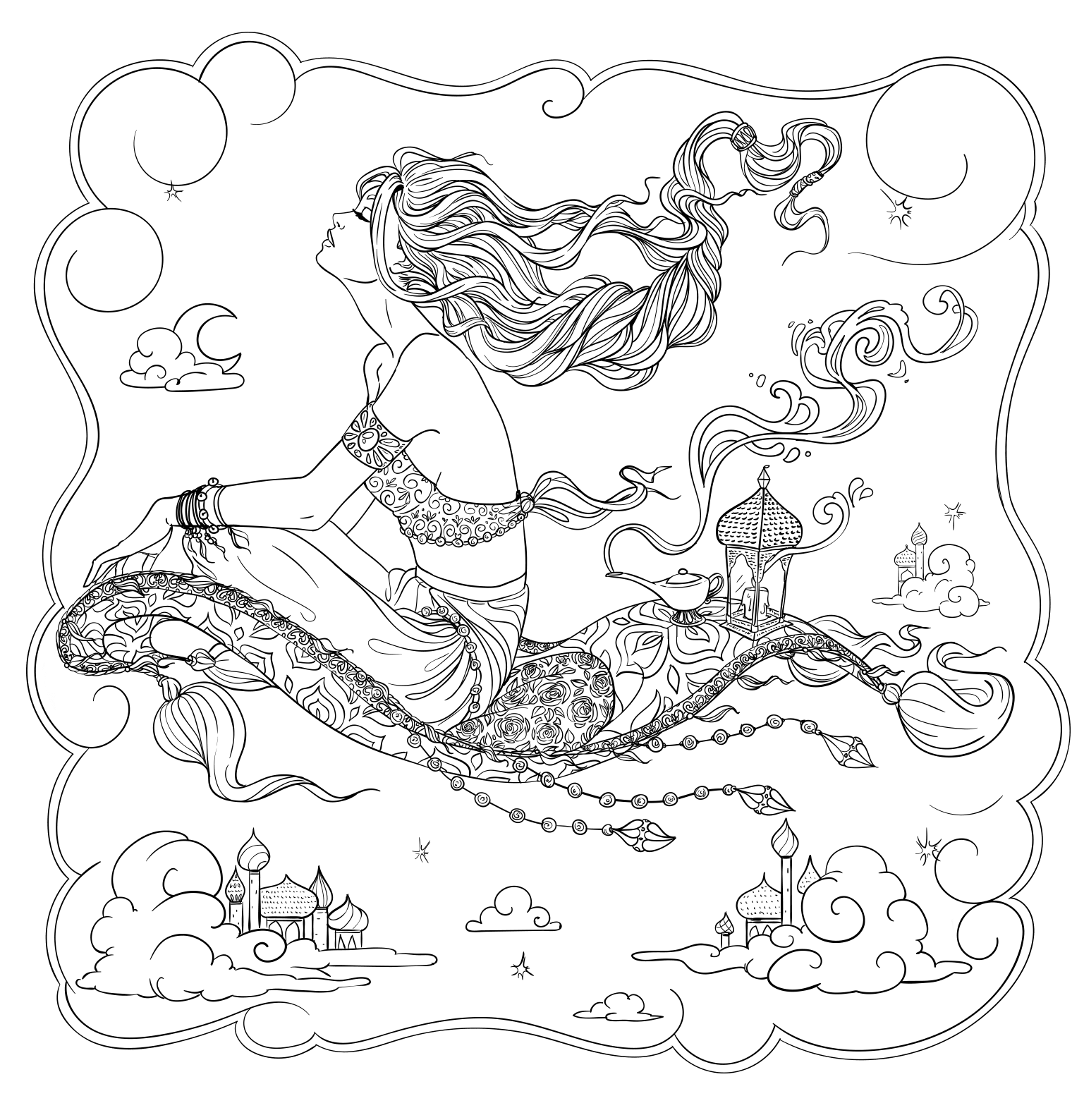 Line artsy free adult. Stitch clipart angel colouring page