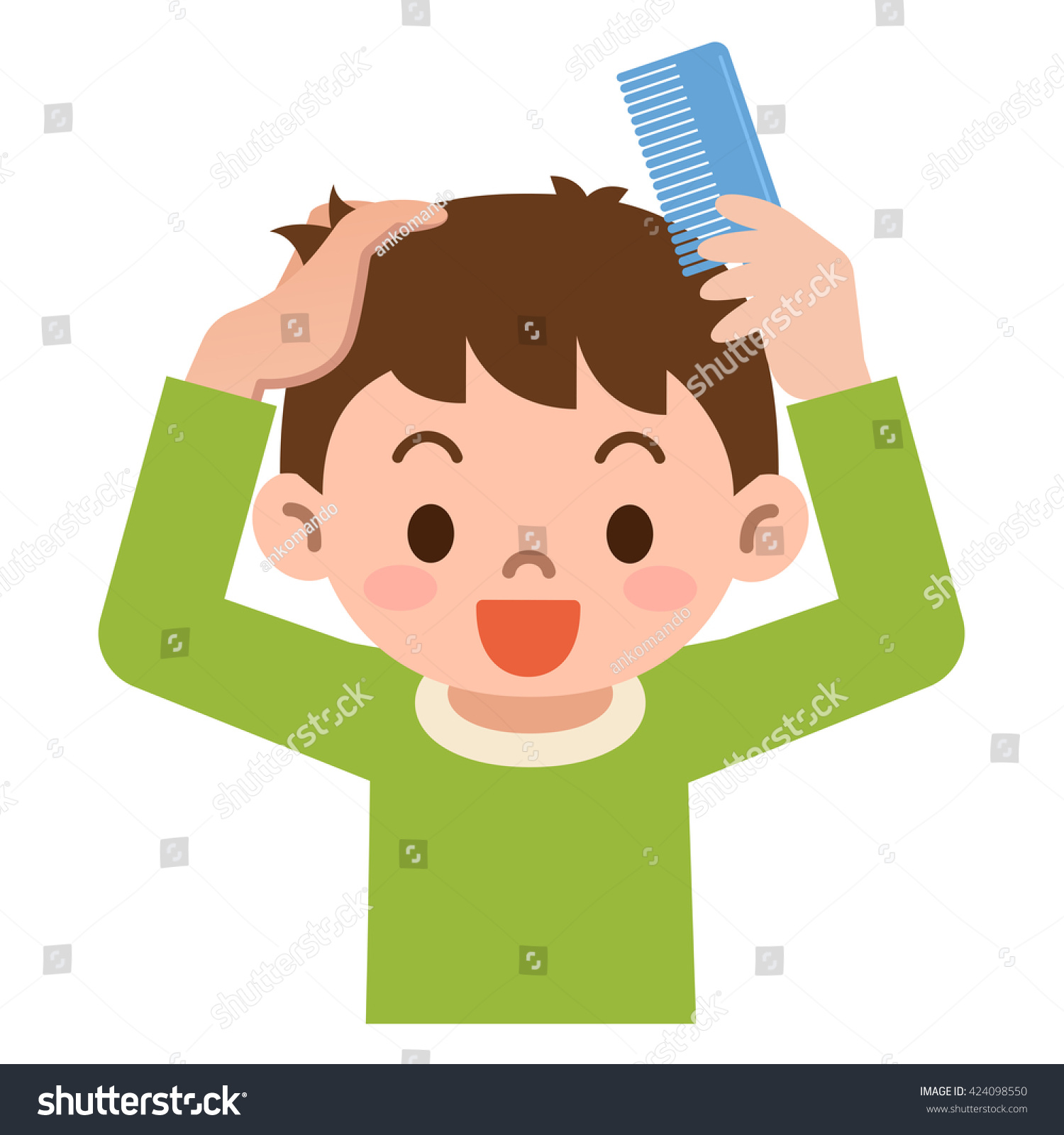 Comb clipart combed hair. Combing station