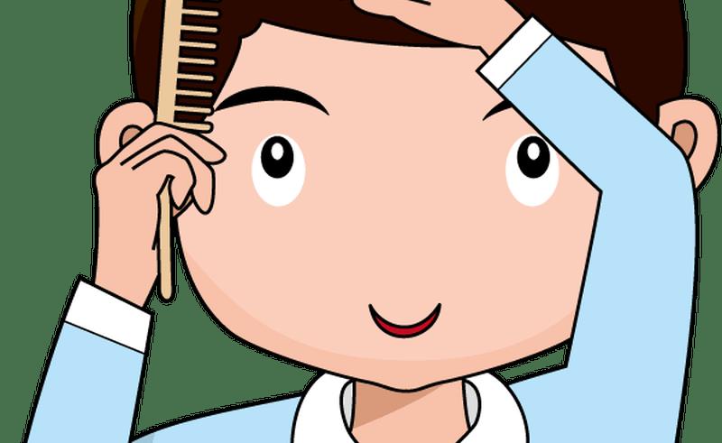 Boy hair clip art. Comb clipart cute