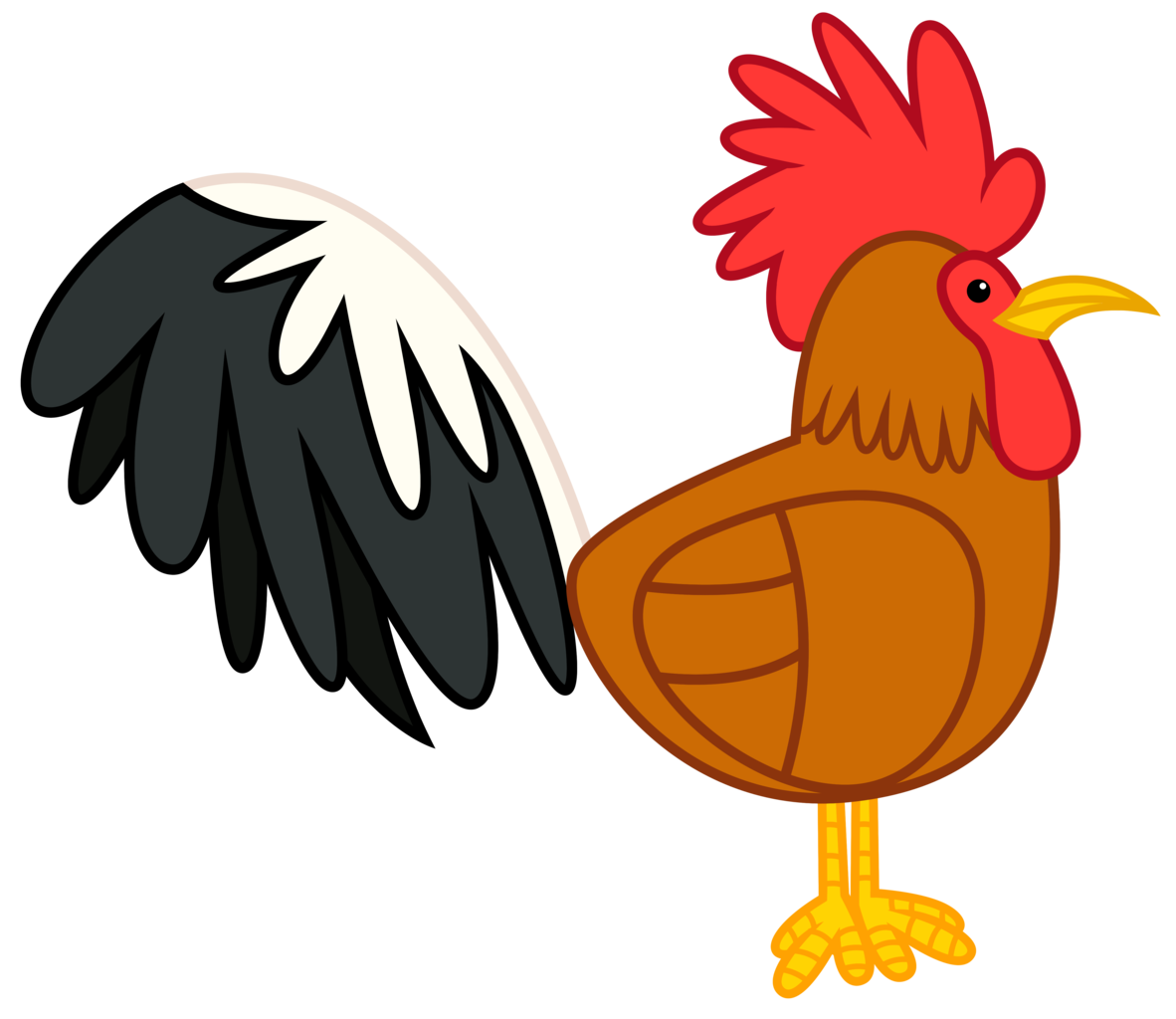 sunset clipart rooster