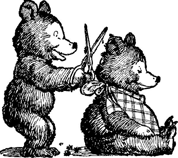 Bear gets clip art. Comb clipart kid haircut