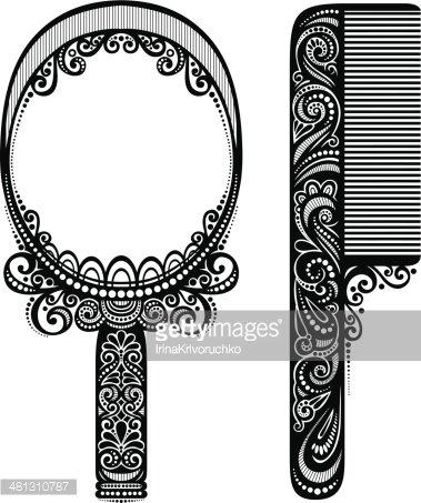 Comb clipart mirror. Ornate with premium clipartlogo