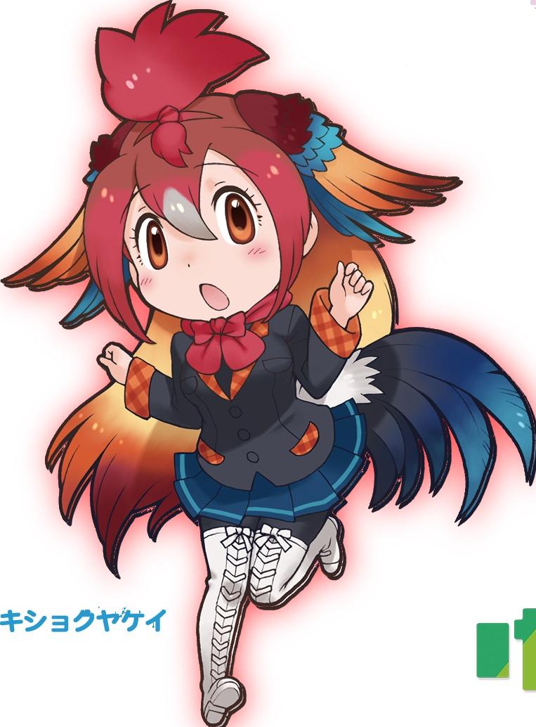 Red junglefowl japari library. Comb clipart personal appearance