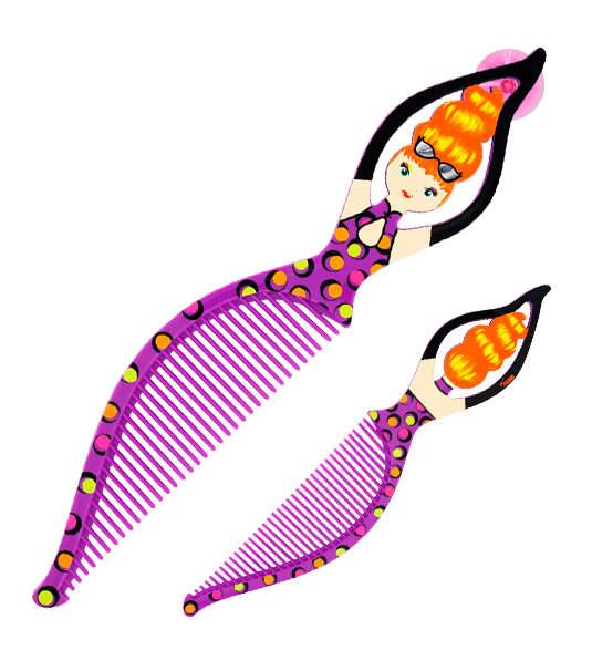 Purple clipart comb. Handle delice pylones peigne