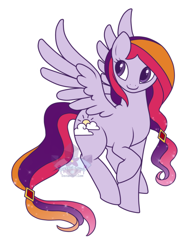 Purple clipart comb. Pony oc enchanted skies