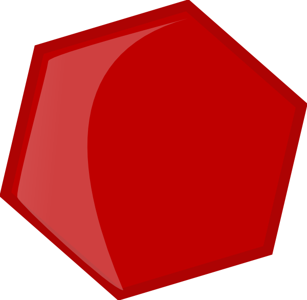 Red clip art at. Honeycomb clipart hexagon