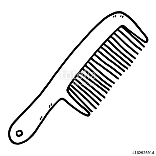 Cartoon vector and illustration. Comb clipart sketch