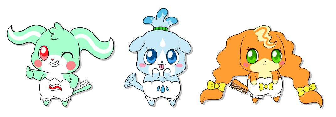 Comb clipart toothbrush. Cocotama adopts closed by