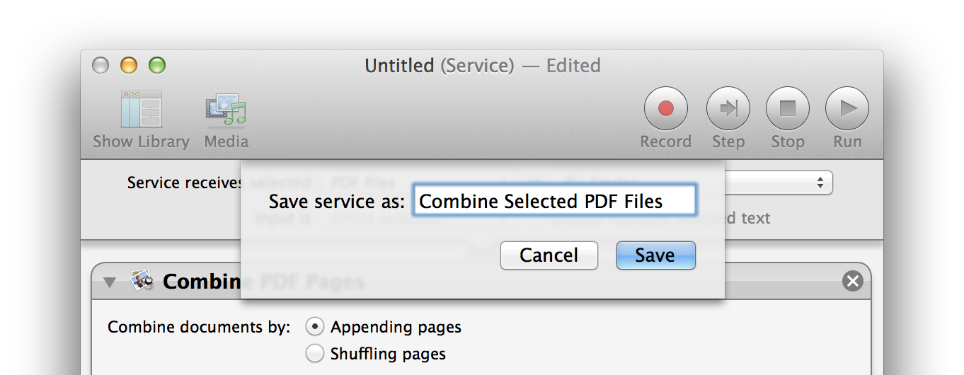 To pdf os x. Combine png files