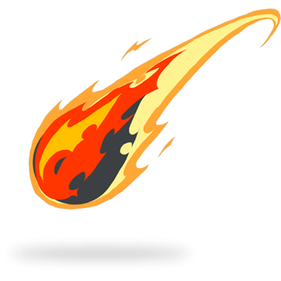Tail drawing fire png. Comet clipart