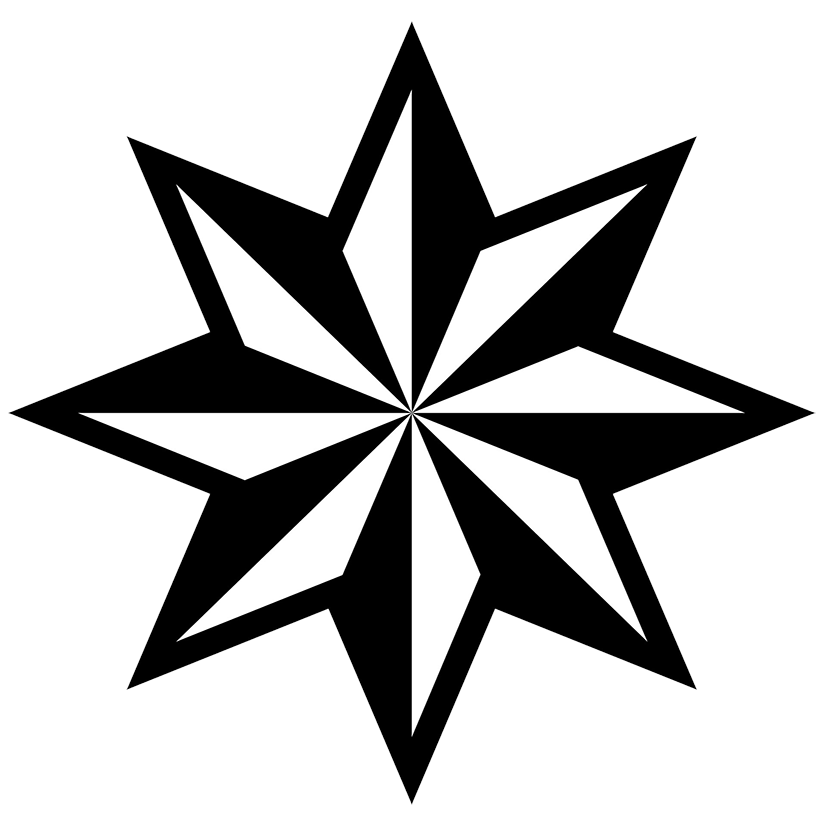 Comet clipart black and white.  x point star