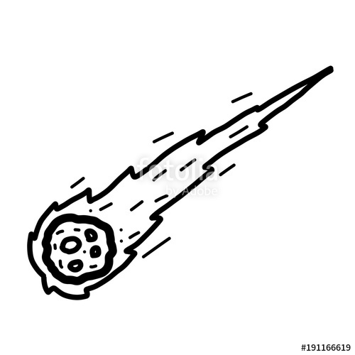 Cartoon vector and illustration. Comet clipart drawn