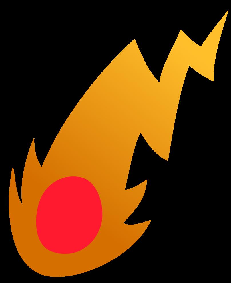 Meteor clipart fireball. Cutie mark request by