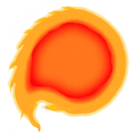 Fireball no background acur. Comet clipart flame ball