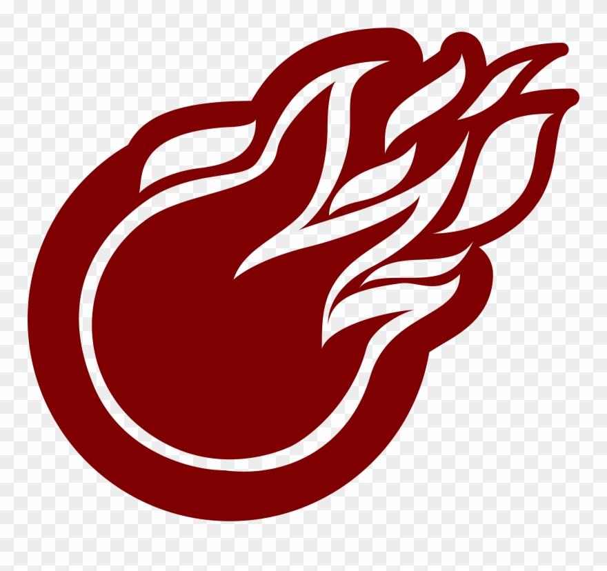 fireball clipart red
