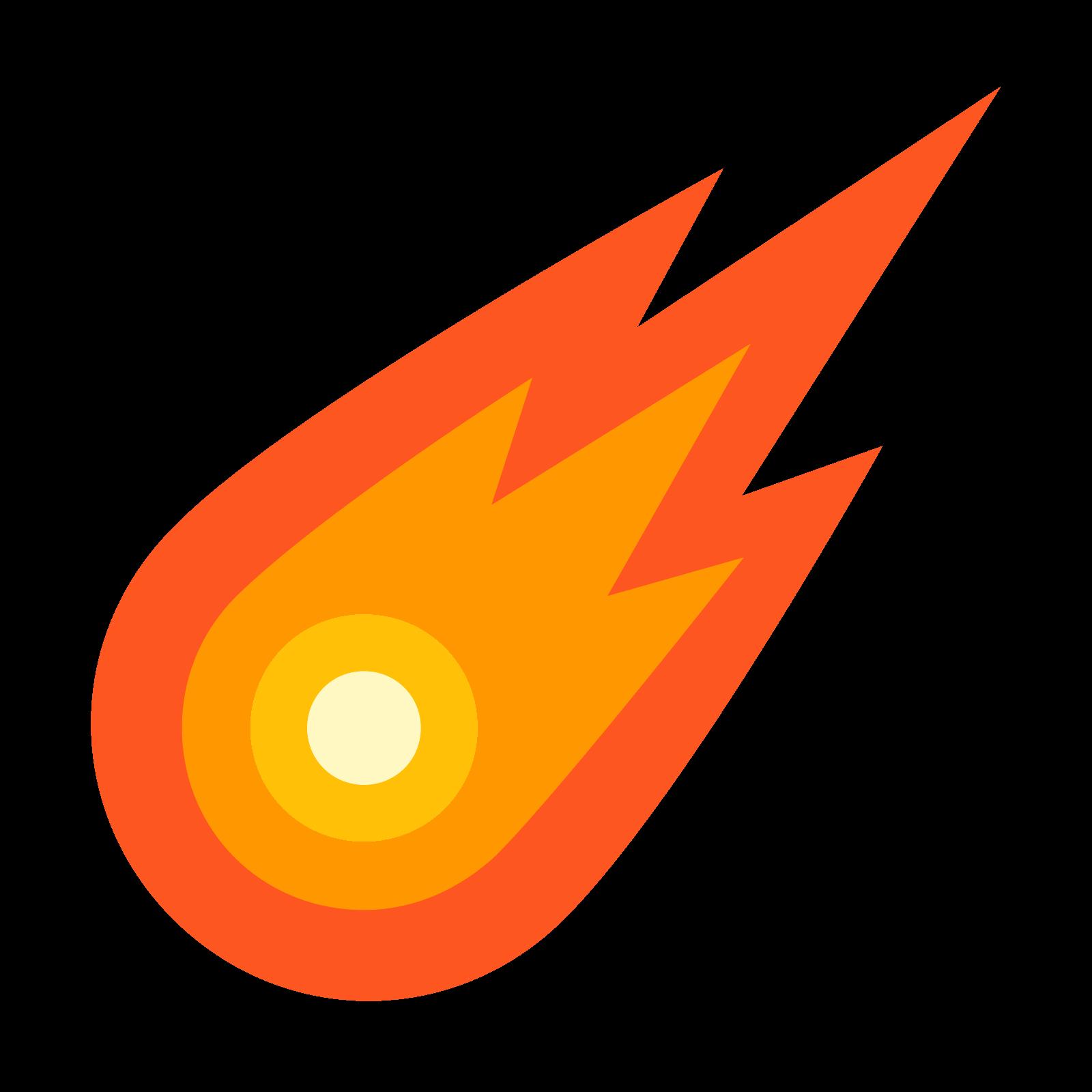 Computer icons meteor transprent. Comet clipart meteoroid