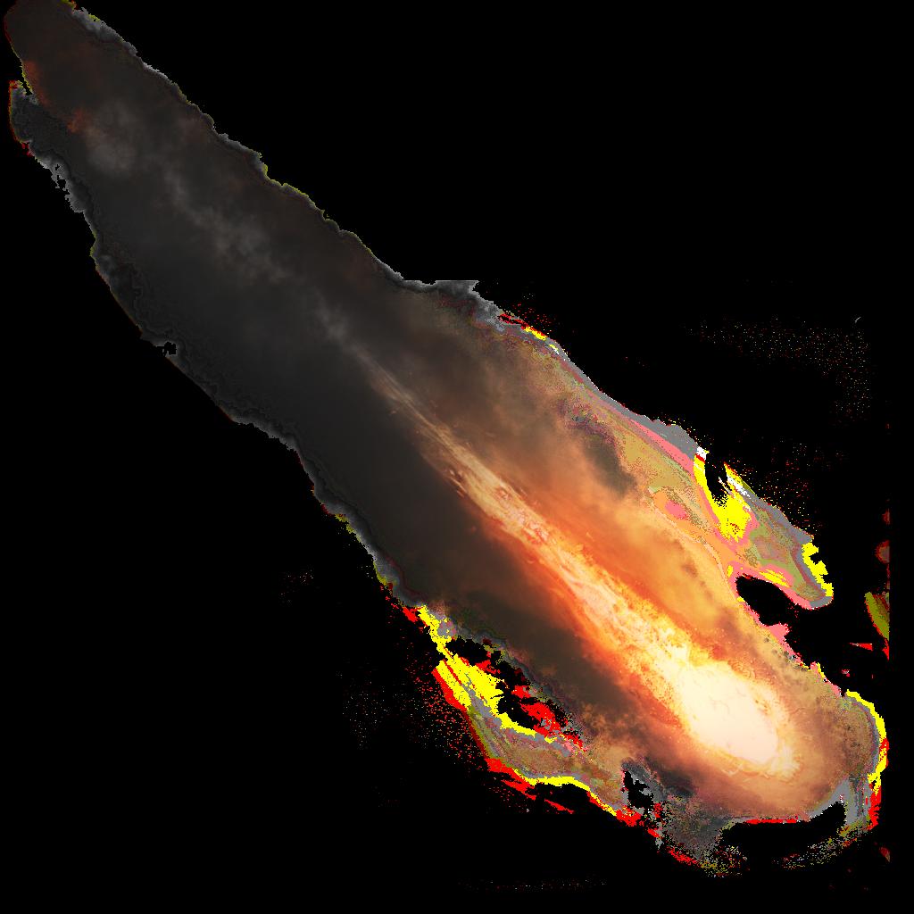 Comet clipart metor. Flaming meteor smoke sticker