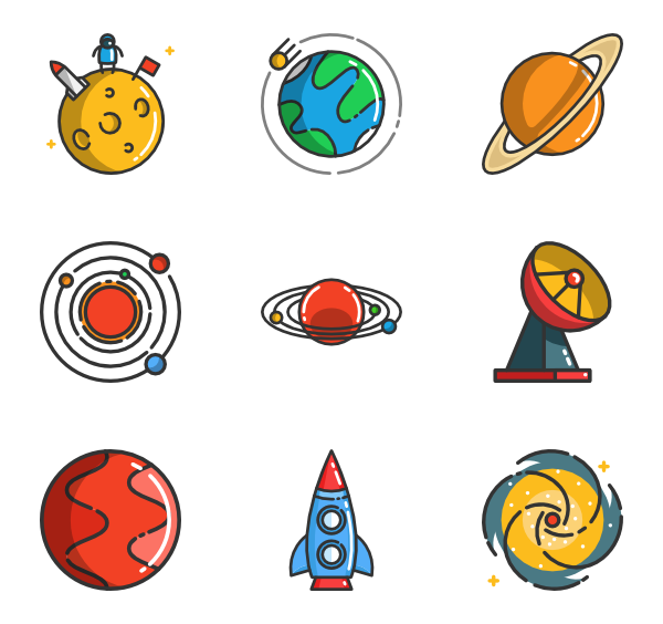 Galaxy clipart svg. Outer space icons free