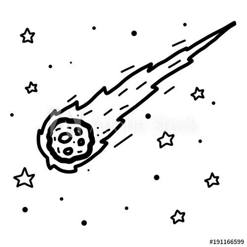 Comet clipart sketch. And star cartoon vector