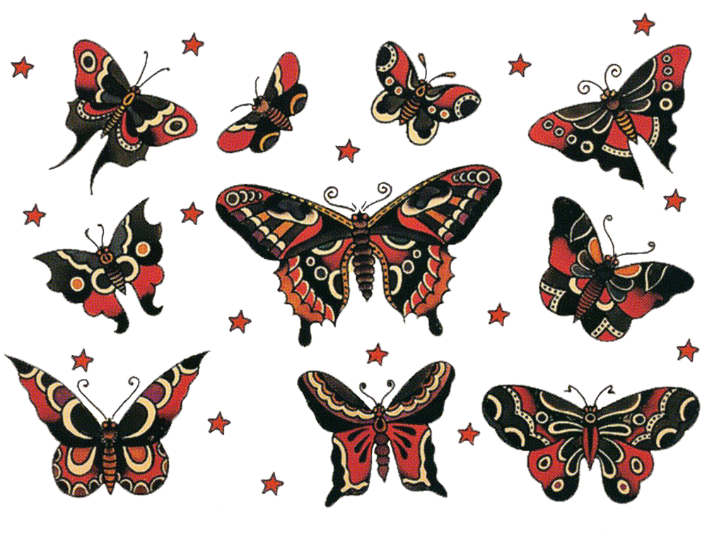 Sailor jerry vintage tattoo. Moth clipart gypsy moth