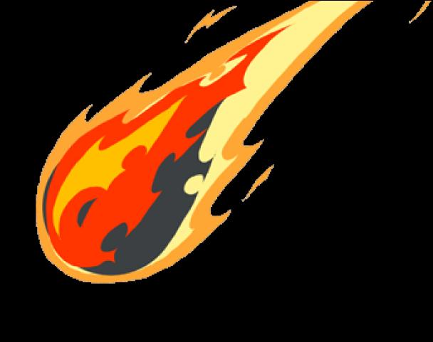 Drawn transparent background comet. Meteor clipart clip art