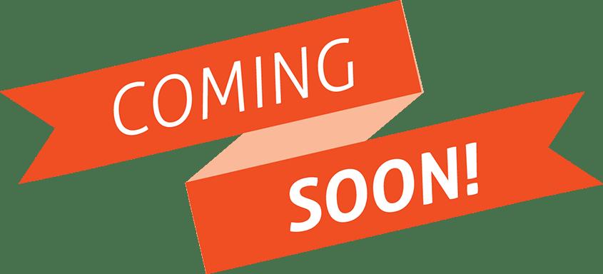Coming soon png images. Orange banner transparent stickpng