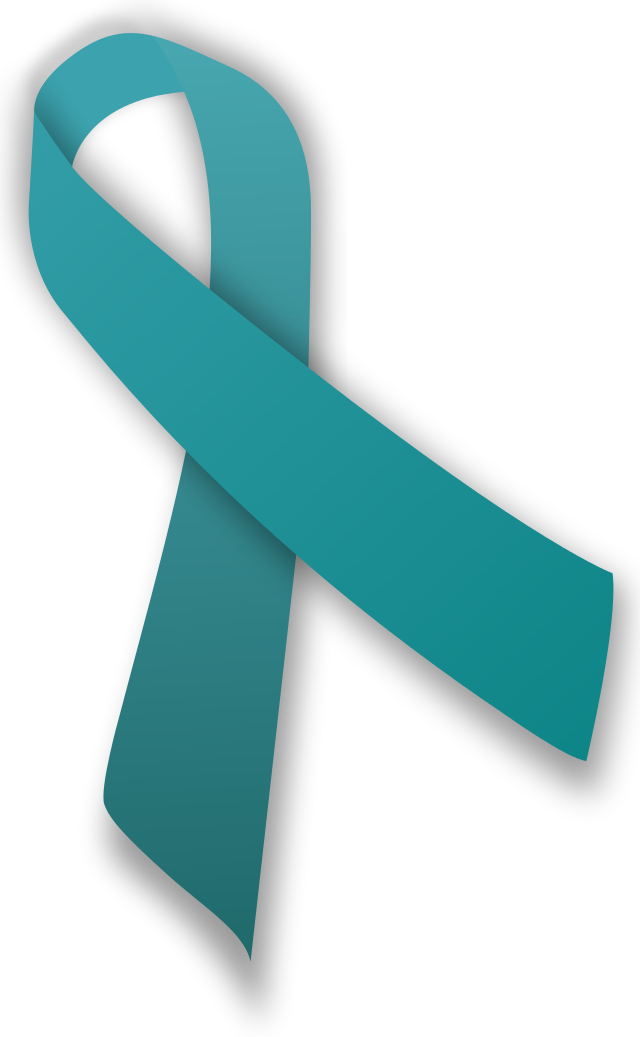 Health clipart health awareness. Teal ribbon for anxiety