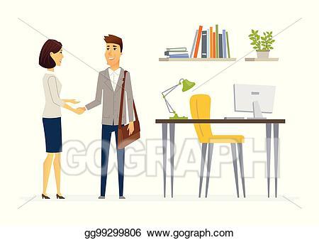 Vector stock productive business. Communication clipart colleague