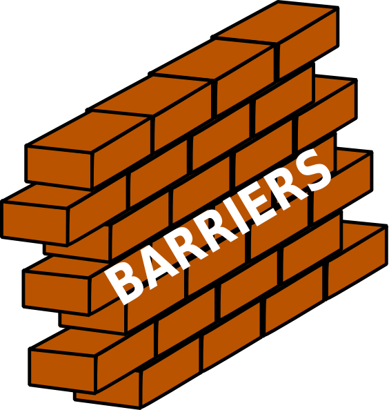 Construction clipart barrier. Clip art at clker