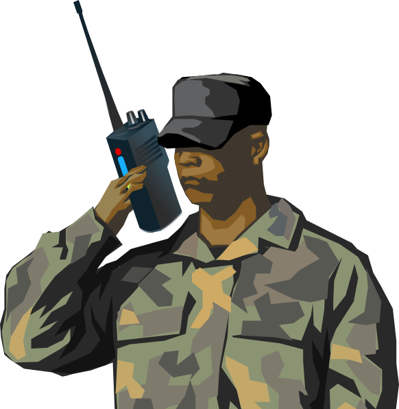 Communication clipart communication art. Soldier communicating clip at