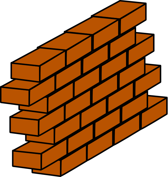 Firewall clip art at. Tower clipart brick