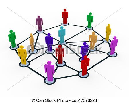 d people business. Communication clipart communication network
