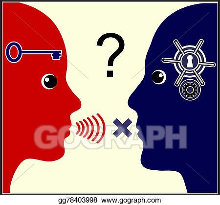 Communication clipart communication problem. Stock illustration marital
