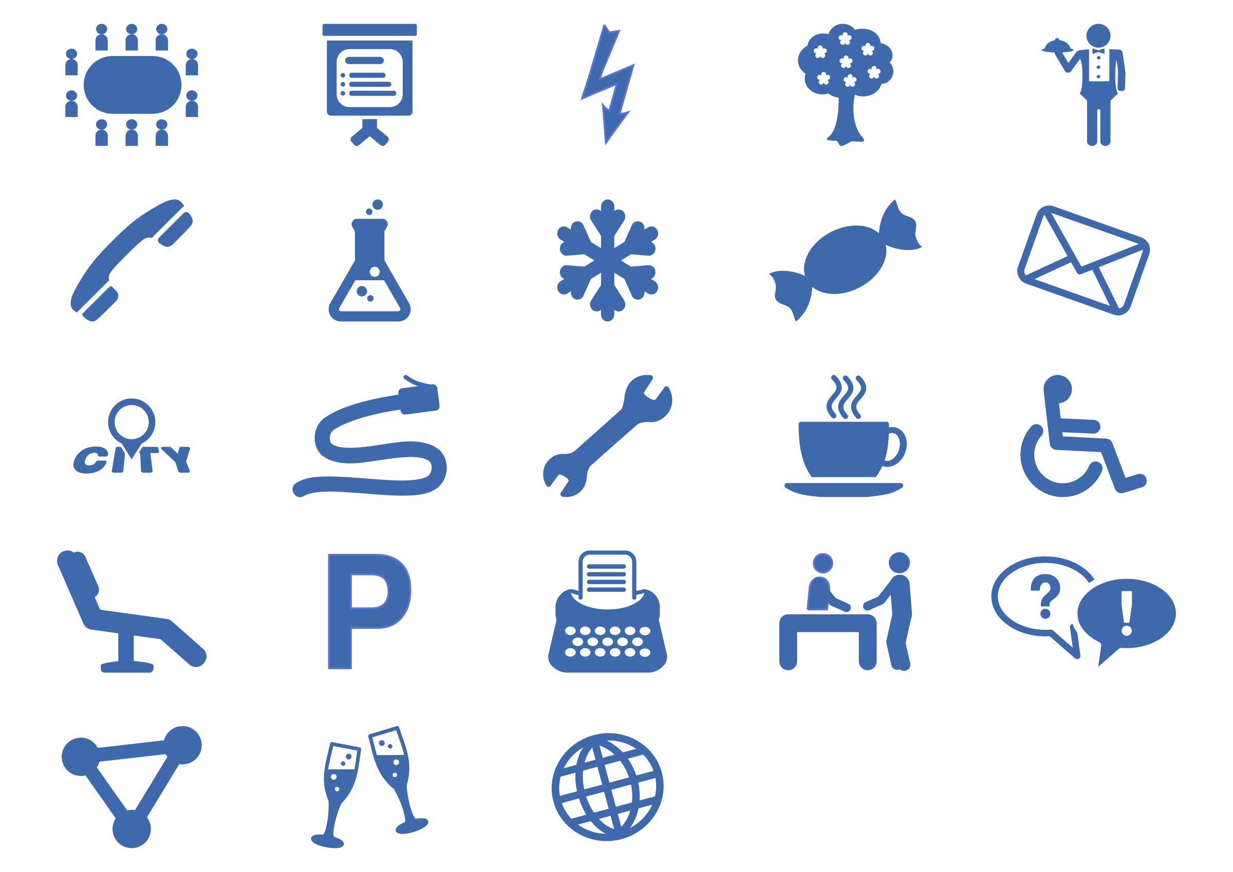 Parking lot clipart icon. Office services set big