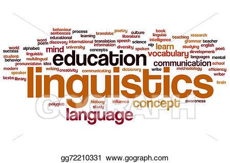 Stock illustration linguistics . Poetry clipart word cloud