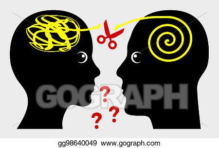 Stock illustration in marriage. Communication clipart miscommunication