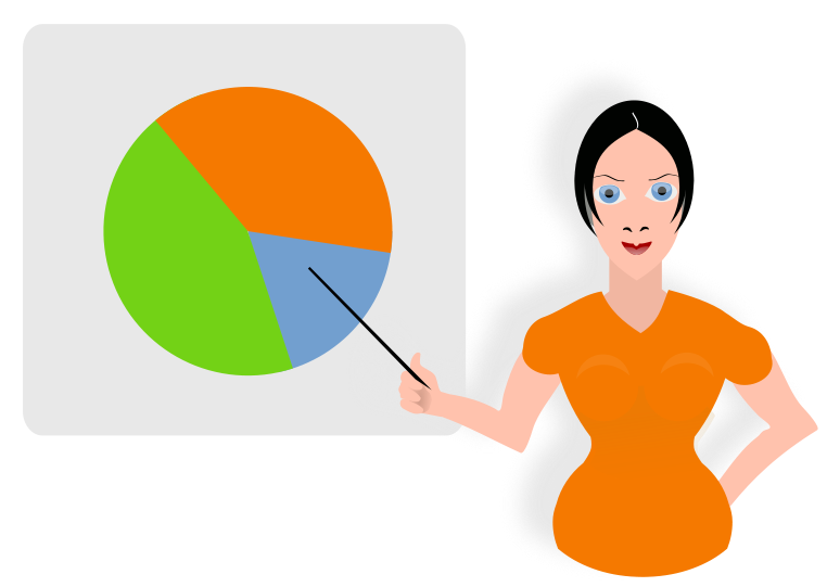 Communication clipart presentation. Chart clip art pie