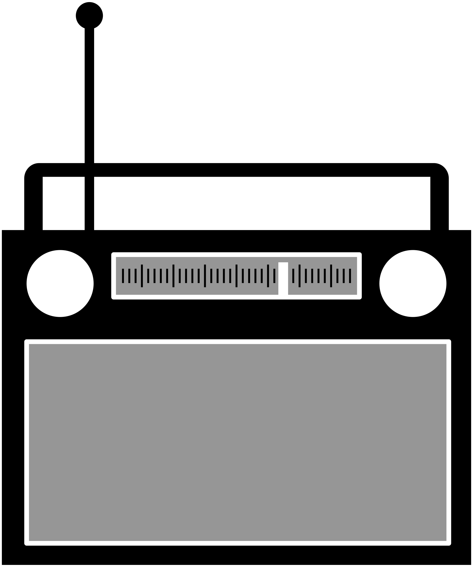 Simple radio. Electronics clipart high tech