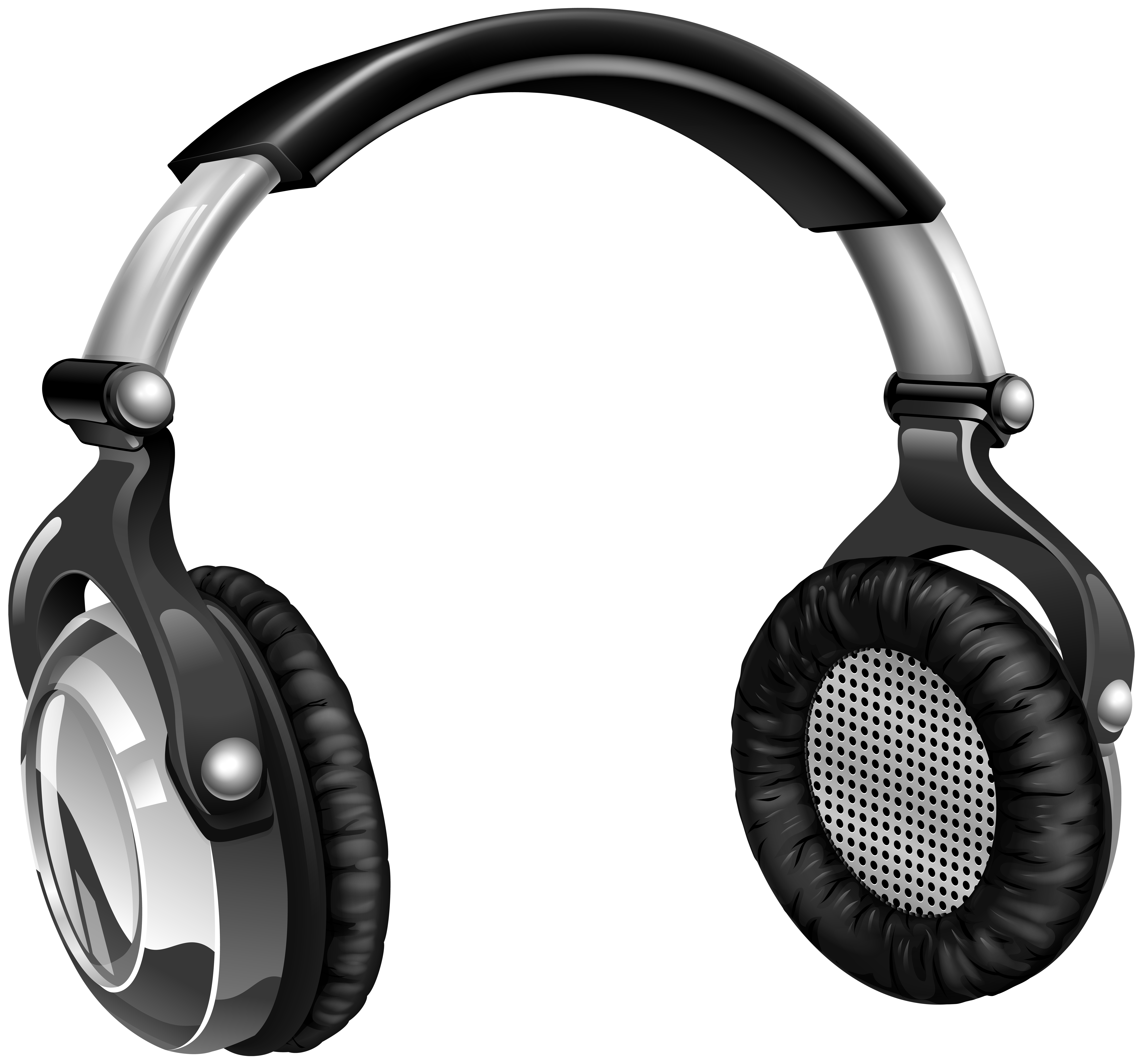 Music headset transparent image. Headphones clipart sound