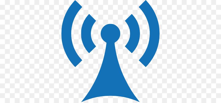 Line logo radio blue. Communication clipart telecommunication