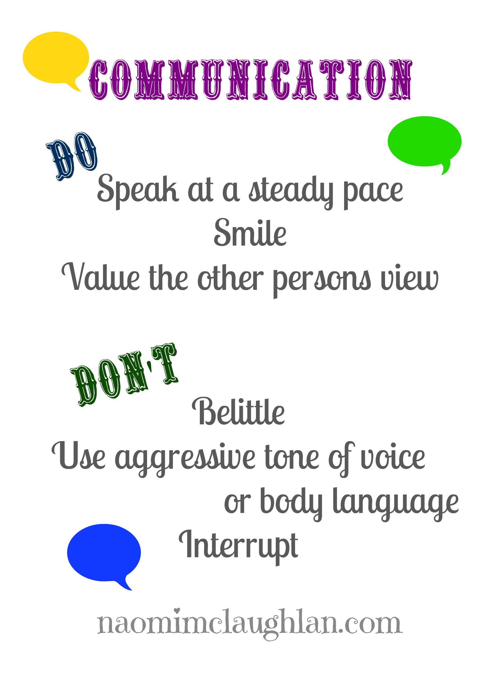 Communication clipart verbal communication. And non naomi mc
