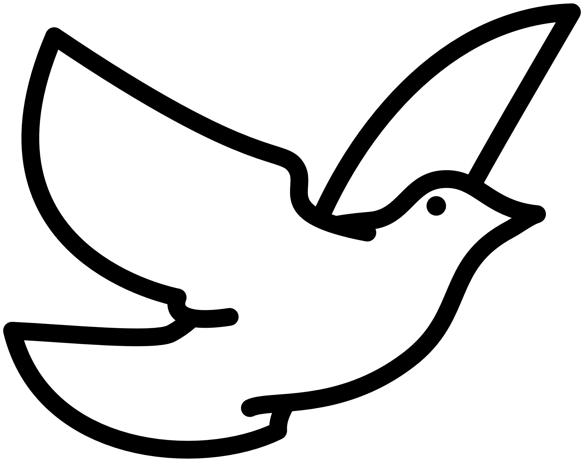 Fly clipart simple. Holy spirit dove black