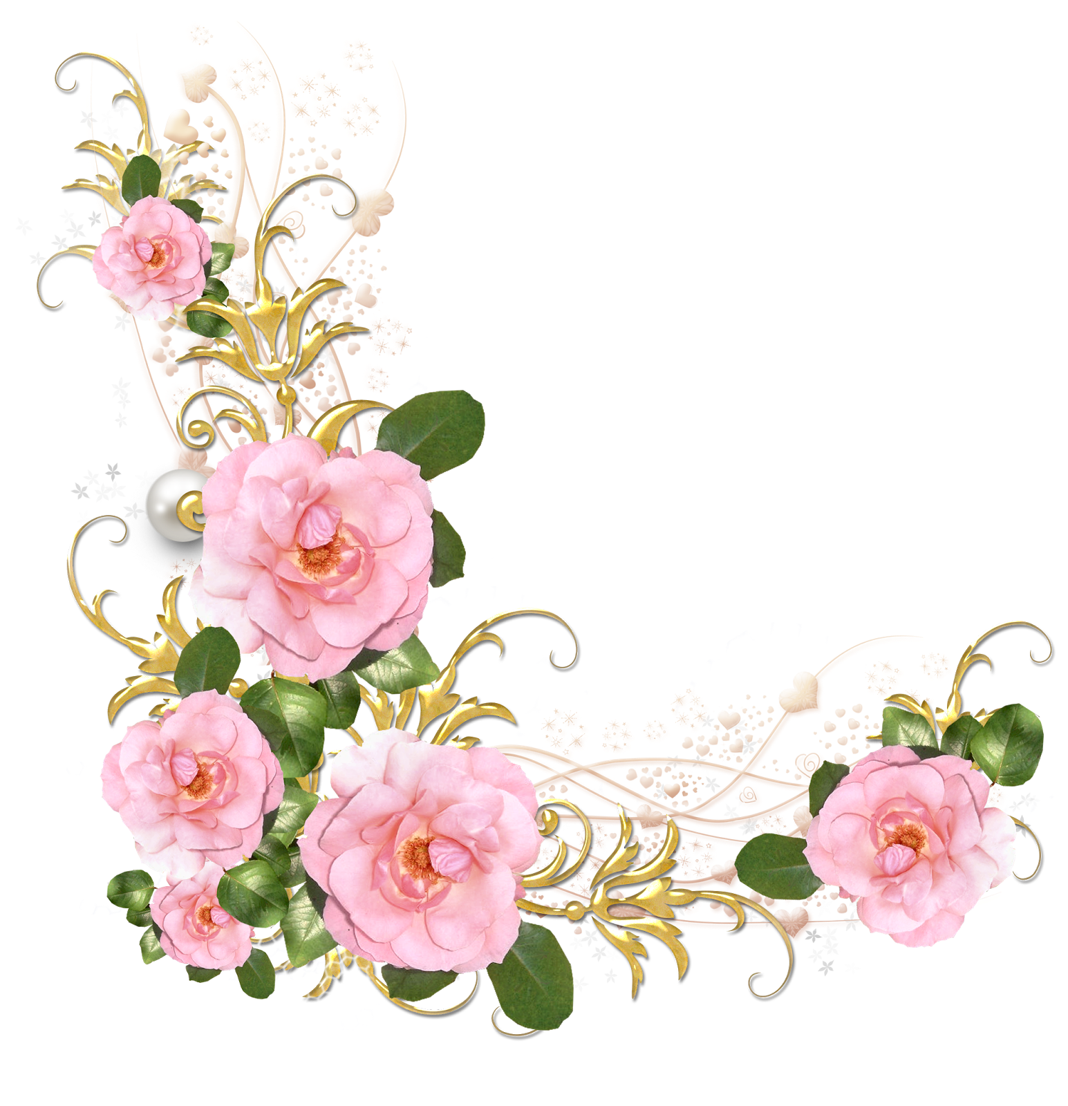 Peony floral accent