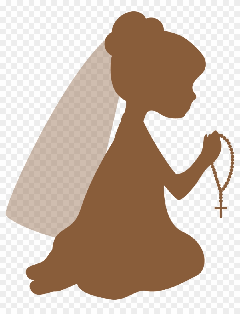 Communion clipart cartoon. Silhouettes first girl