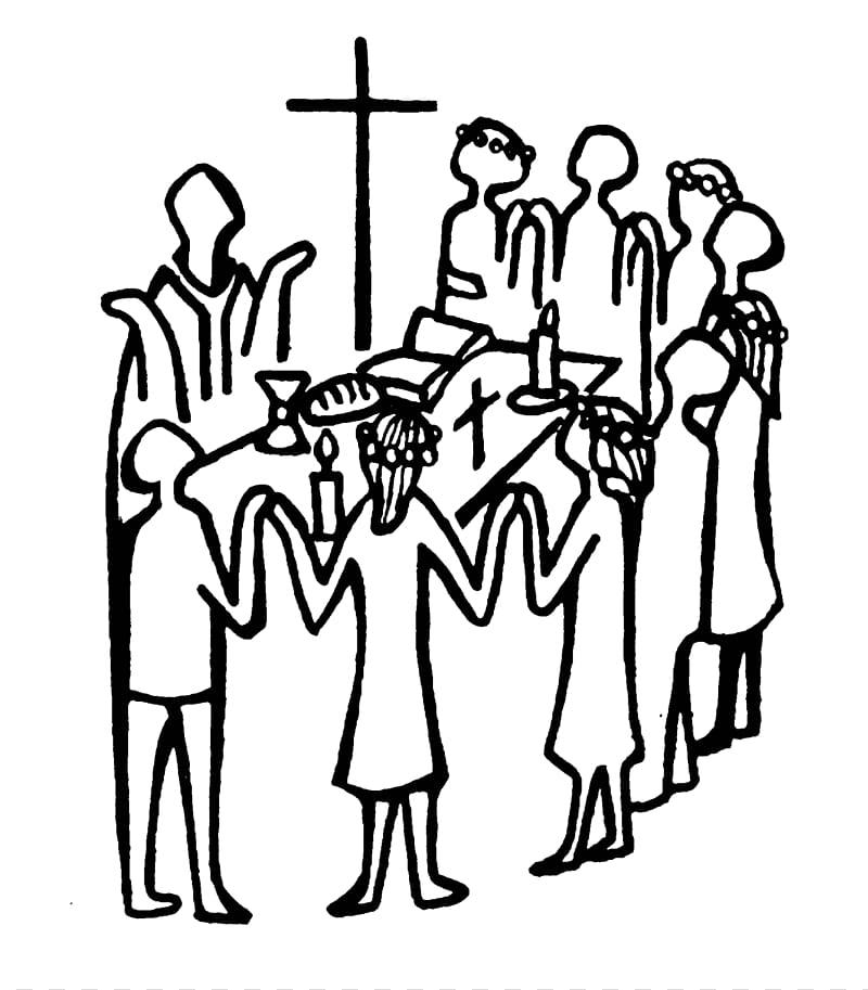 Eucharist in the church. Communion clipart catholic mass
