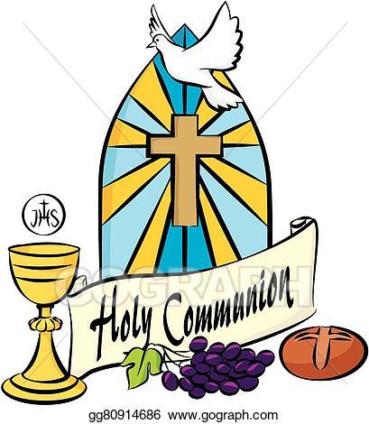 Communion clipart eucharist. Vector art my first