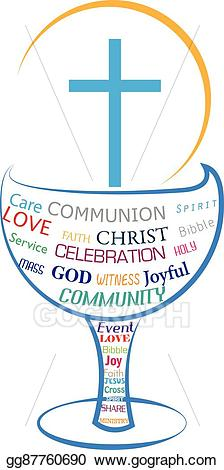 Communion clipart eucharistic celebration. Eps vector eucharist holy