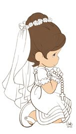 Moments st personalized frame. Communion clipart first precious moment